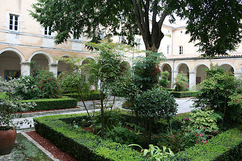 cloisters with gardens