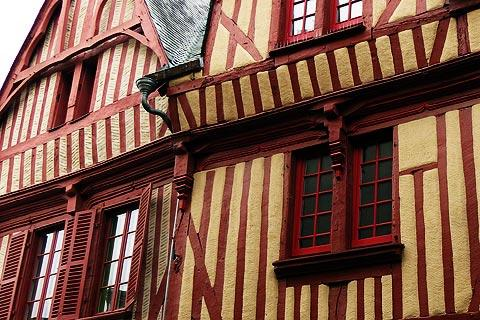 half-timbered house in Laval