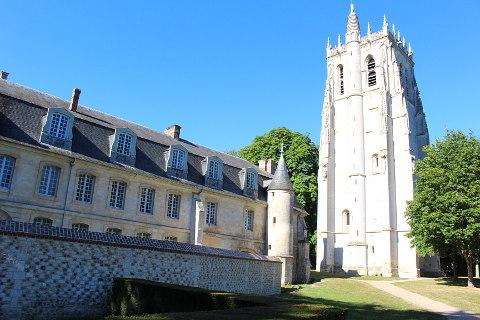 Abbey in Le Bec-Hellouin village