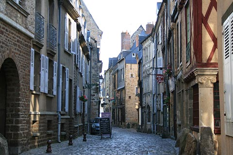 street of medieval houses