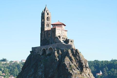 Chapel Saint-Michel d'Aiguilhe at Le Puy-en-Velay