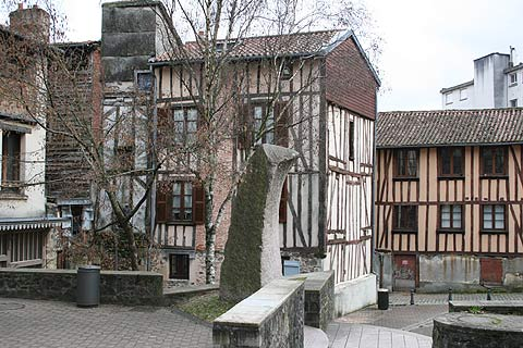 Ancient houses in town centre in Limoges
