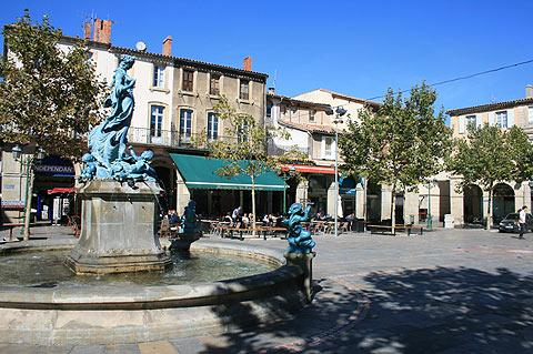 Place de la Republique in Limoux