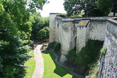 fortified walls in Loches