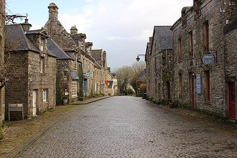 ancient street in centre of Locronan