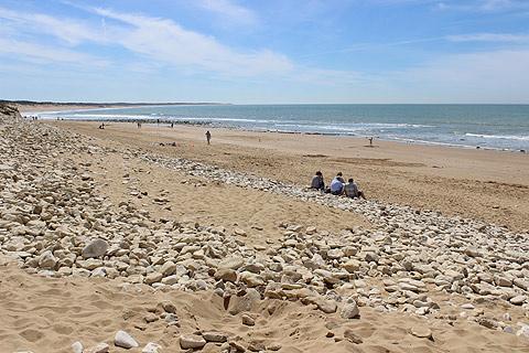 Attractive plage près de Longeville-sur-Mer