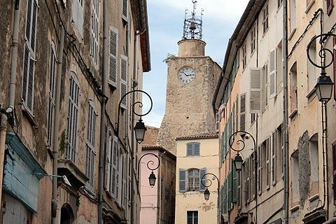 Belfry in town centre in Lorgues
