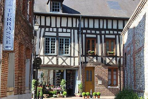 Medieval houses in centre of Lyons-la-Foret