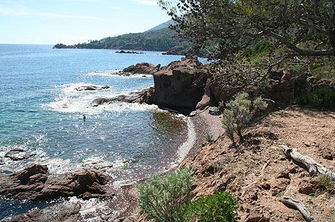 Var coast in Massif d'Esterel
