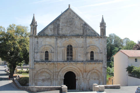 Facade of the Church of Saint-Hilaire in Melle