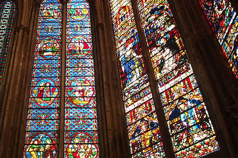 Stained glass windows of the cathedral in Metz
