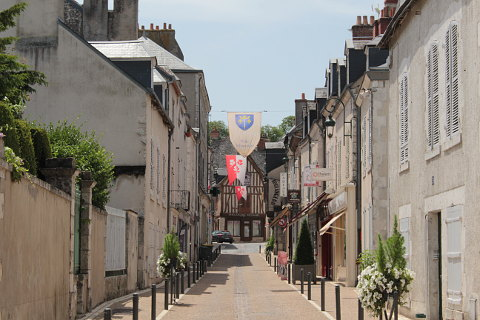 pretty street in Meung sur Loire