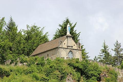 Chapel on hill above Meyrueis