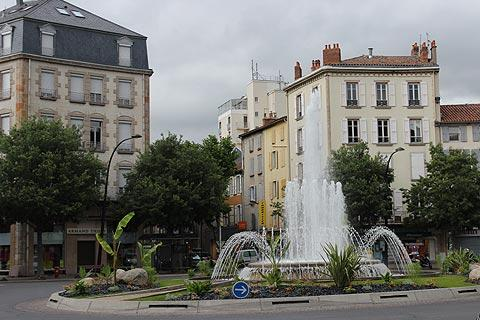 fountain in Millau town centre