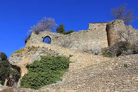 Ancient ramparts in Minerve