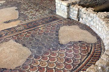 les grandes mosaïques de salle à manger de Montcaret villa romaine