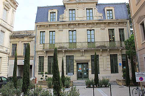Ornately decorated house in centre of Montelimar