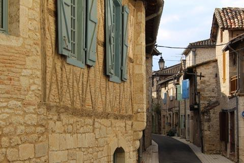 street of medieval houses in Montpezat-de-Quercy