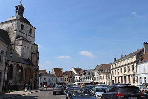 the main square in Montreuil-sur-Mer