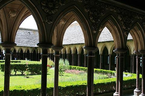 cloisters in abbey