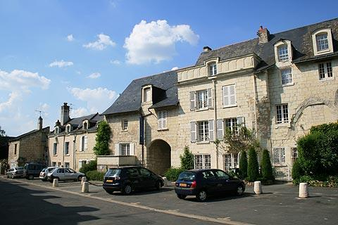 Main street in centre of Montsoreau village