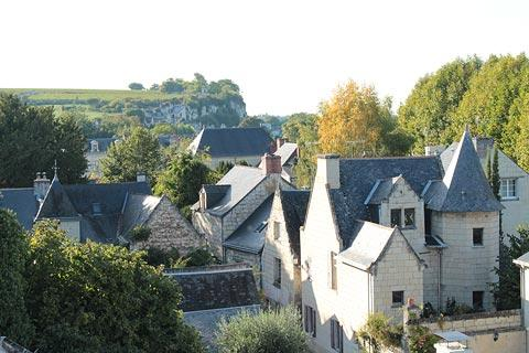 View across the rooftops of Montsoreau