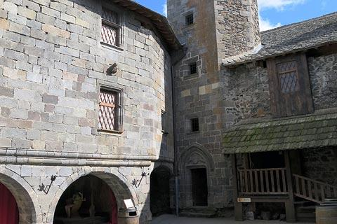 Courtyard of Murol castle