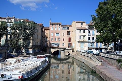 canal boats in Narbonne