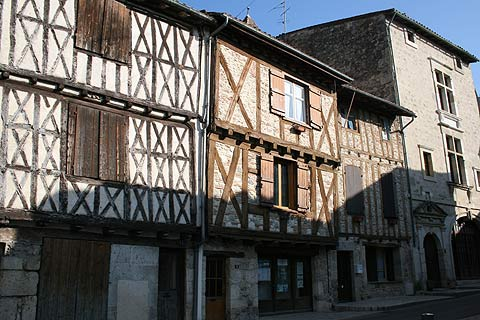 Maisons médiévales dans le district de Tanneries