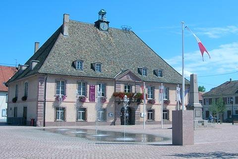Town hall at Neuf-Brisach