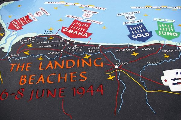 Map Of The Normandy Beaches And Important Troop Movements
