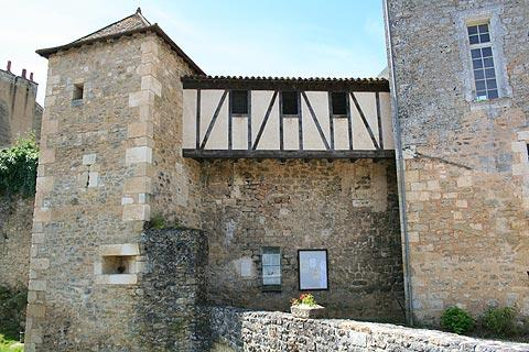 Medieval building, part of the Abbey of Saint-Junien in Nouaille-Maupertuis