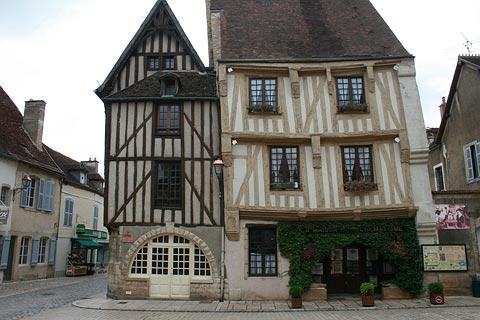 medieval houses in centre of Noyers-sur-Serein