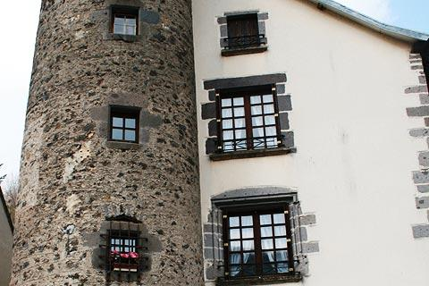 Medieval tower in centre of Orcival
