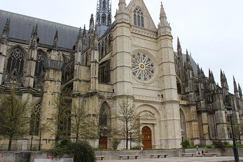 South entrance to cathedral of Sainte-Croix in Orleans
