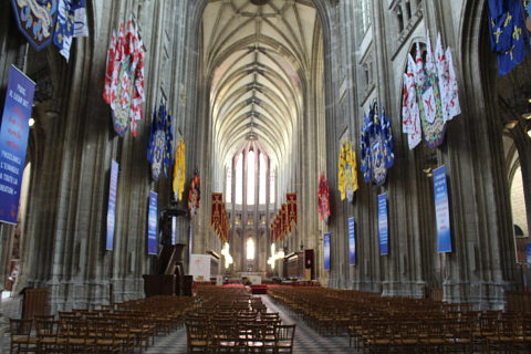 Main nave in Orleans cathedral