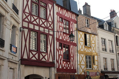 Medieval houses in the centre of Orleans