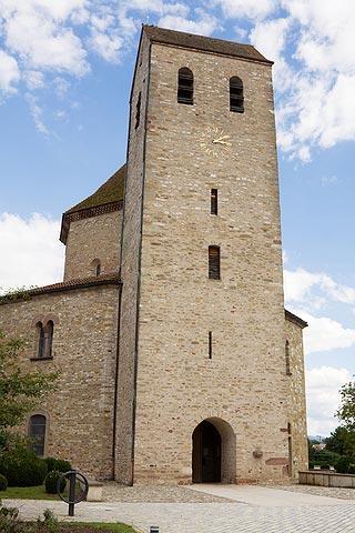 clocher de l'église à Ottmarsheim