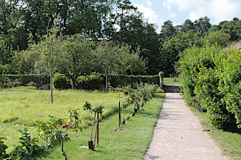 Gardens and apple orchard of Beauport abbey