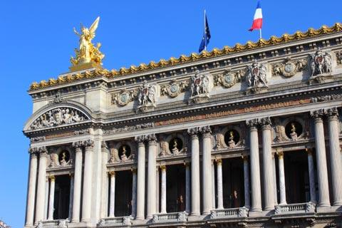 part of the facade of the Paris Opera