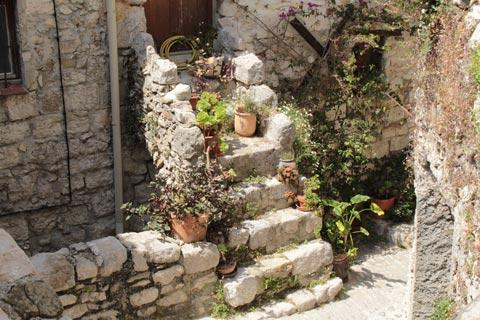 Lovely ancient stairs in Peillon