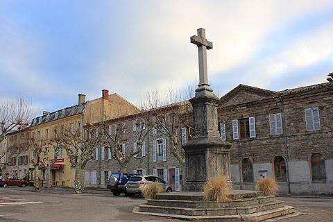 Main square, the Place des Croix, in Pelussin