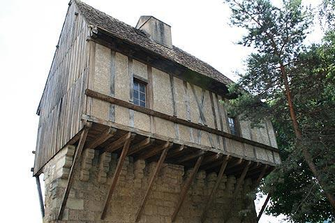 half-timbered house in Perigueux