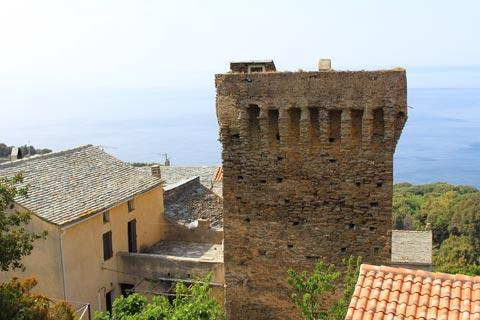 Medieval tower and Mediterranean