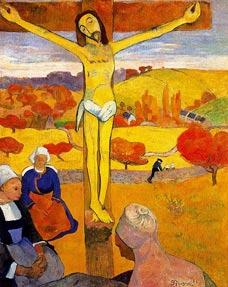 gauguin painting of yellow christ