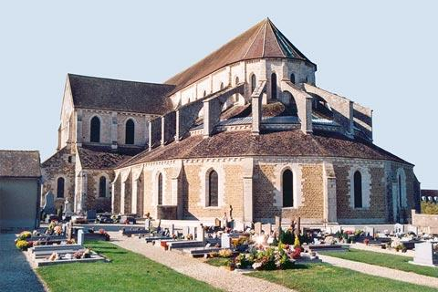 Rear view of Pontigny abbey