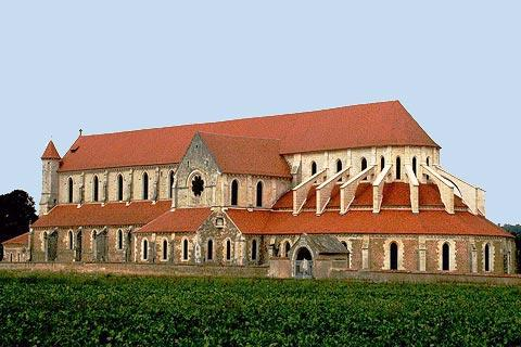 Side view of Pontigny abbey