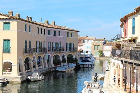 View along the canal in Port Grimaud