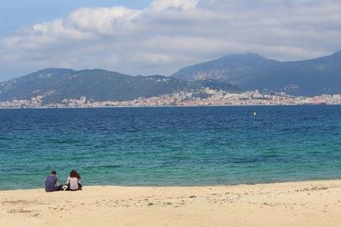 View from Porticcio to Ajaccio