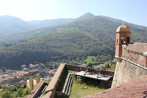 view from Fort Lagarde in Prats-de-Mollo